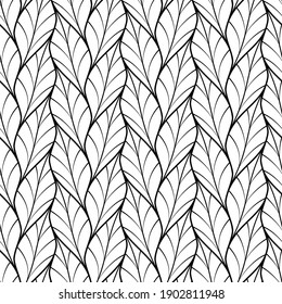 Vector geometric seamless pattern.Modern geometric background with leaves.