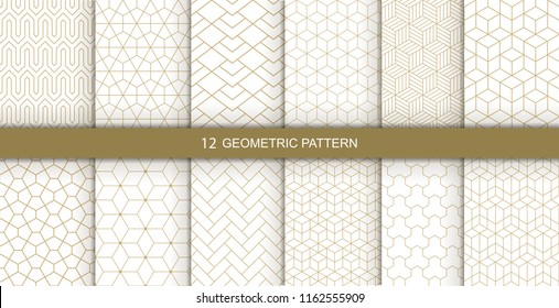 Vector geometric seamless patterns. Abstract geometric  hexagonal  graphic design print 3d cubes pattern. Vector seamless  geometric cubes pattern.