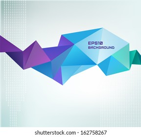 vector geometric shape, abstract colorful futuristic background. Facet 3d banner, shape isolated