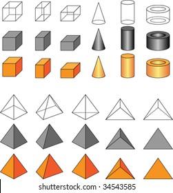 Vector geometric shapes