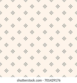 Vector geometric texture with small diamond shapes, tiny rhombuses, squares. Abstract modern seamless pattern. Light monochrome background. Repeat design for decor, textile, fabric, furniture, cloth