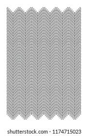 Vector geometric zigzag in gray tones