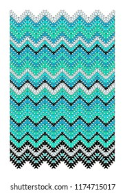 Vector geometric zigzag pattern