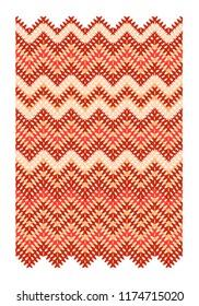 Vector geometric zigzag pattern in red tones
