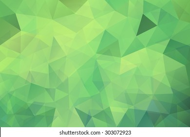 08aa167d Vector geometrical background with triangles. Green low poly illustration  for card, poster or wallpaper