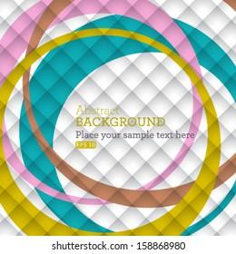 Vector geometrical design overlapping square illustration background.