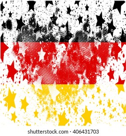 Vector German grunge flag. Using for decoration works.