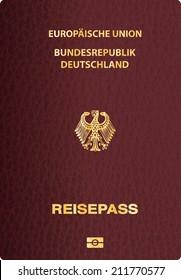 vector German passport cover