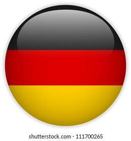 Vector - Germany Flag Glossy Button