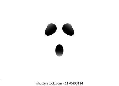 Vector Ghost Eye Halloween Wallpaper with white background