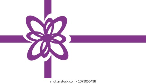 vector Gift bow purple