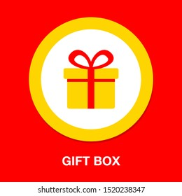 Vector Gift box illustration isolated - holiday present graphic symbol - giftbox icon
