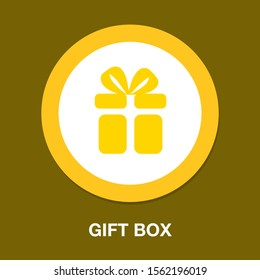 vector gift box - present package, birthday or holiday symbol