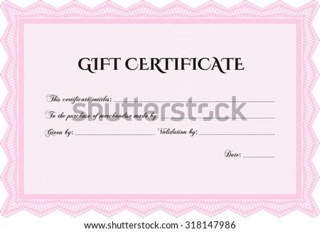 vector gift certificate border frame easy print stock vector