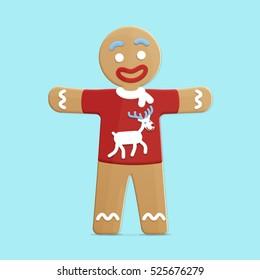 Vector gingerbread man