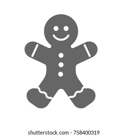 Vector gingerbread man