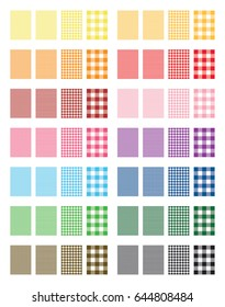 Vector Gingham Pattern Background (14 color versions)