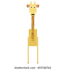 Vector giraffe are made of squares and rectangles