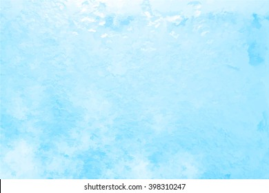 Vector Glass covered with ice during the severe frosts in winter