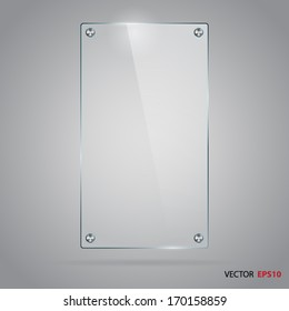 Vector glass frame with steel rivets.