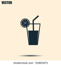 vector glass of juice icons