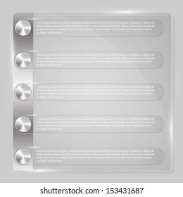 Vector glass pattern infographics