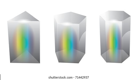 vector glass prism