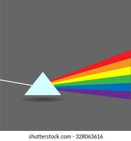 Vector glass prism. Flat illustration.