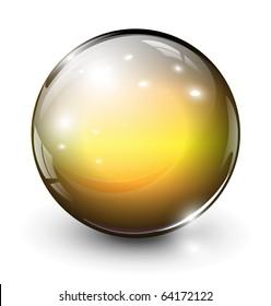 Vector glass sphere, ball