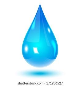 Vector glass water drop