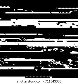 Vector Glitch Background. Data Decay. Digital Pixel Noise Texture. Television Signal Fail. Computer Screen Error. Abstract Grunge Wallpaper.