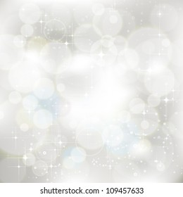 Vector glittery silver abstract Christmas background. Jpeg version also available in gallery.
