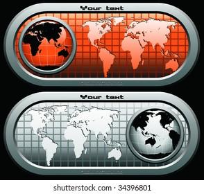 vector global flayer two (similar in my portfolio)