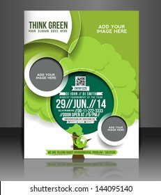 Vector Global Warming Brochure, Flyer, Magazine Cover & Poster Template