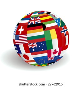 Flags globe images stock photos vectors shutterstock vector global world flags freerunsca Image collections
