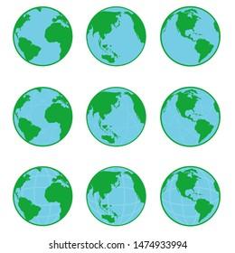 Vector Globe Flat icon. vector illustration
