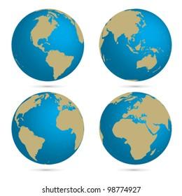 Vector globe set