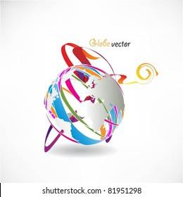 vector globe surface