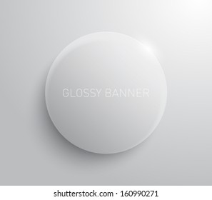 Vector glossy banner with shiny lights for websites or business design. Modern and clean style