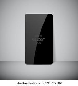 Vector glossy black card