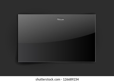 Vector glossy black paper card