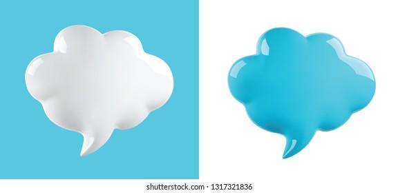 vector glossy cloud bubble, vector illustration