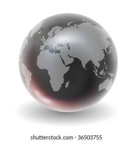 Vector Glossy Crystal Earth