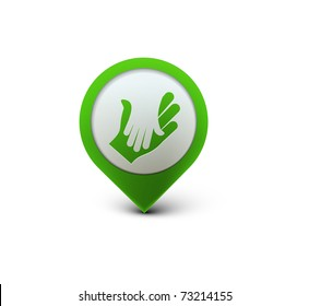 vector glossy deal web icon design element.