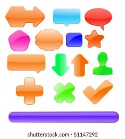 vector glossy design elements set