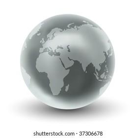 Vector Glossy Earth Globe