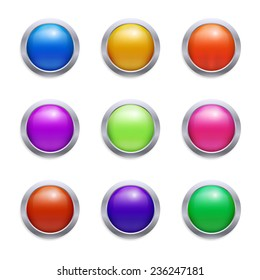 Vector glossy set of buttons