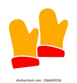 vector gloves illustration, gloves symbol - boxing equipment