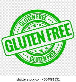 Vector gluten free stamp isolated on transparent background