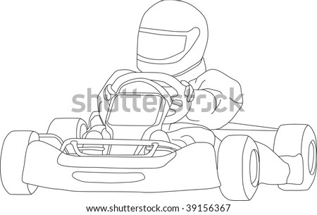 vector go kart isolated on background stock vector royalty free Dune Buggy vector go kart isolated on background